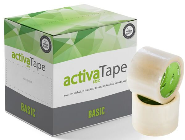 activaTape Basci - Packband transparent 72 mm x 66 lfm