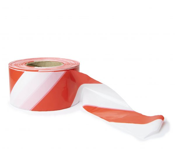 Barrier Tape Red/White 75mm x 500m