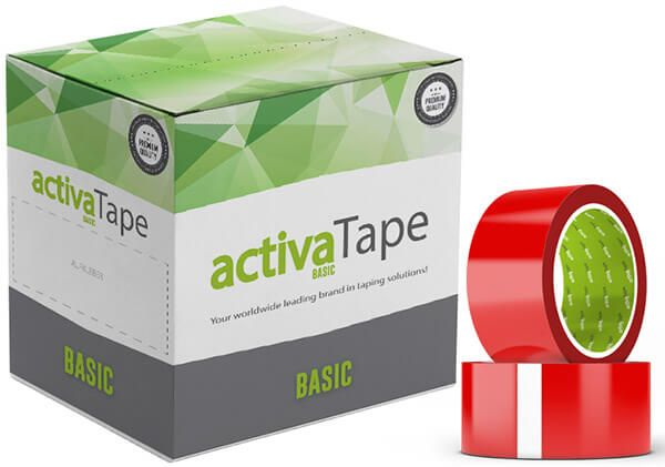 activaTape Basic - Klebeband rot 48 mm x 66 lfm