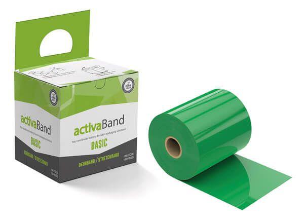 Palttendehnband in Grün zur Stabilisierung von Paletten - activaBand
