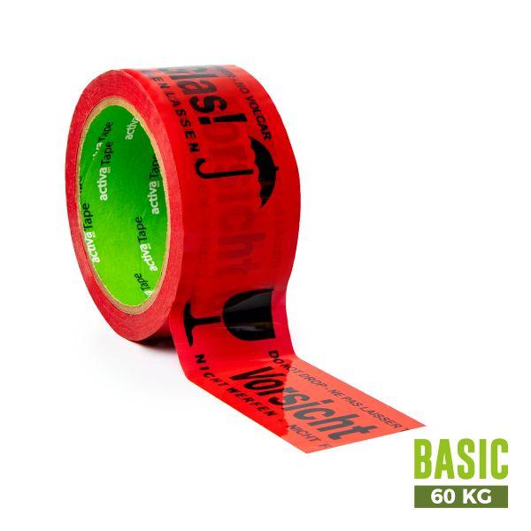 """activaTape Basic 48 mm x 66 lfm """"Vorsicht Glas"""""""