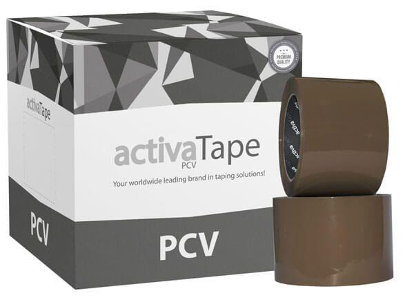 activaTape Power PCV - 72 mm x 66 Meter -  extrem starkes Klebeband braun