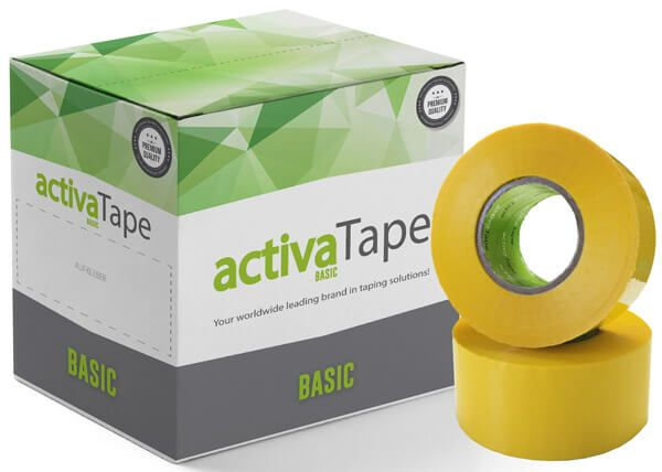 activaTape Basic - Packband Gelb 48mm x 150 Laufmeter