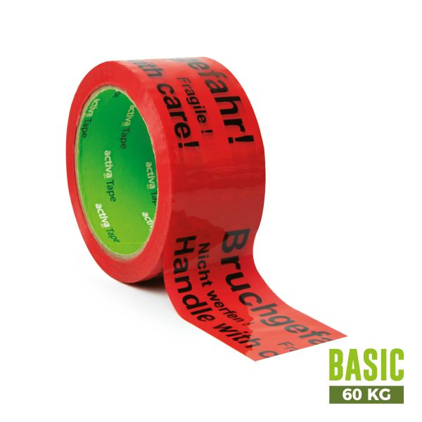 "activaTape Basic 48 mm x 66 lfm ""Bruchgefahr"""