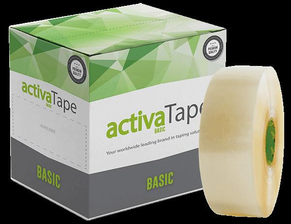 activaTape Basic - Maschinenklebeband transparent 72 mm x 990 lfm
