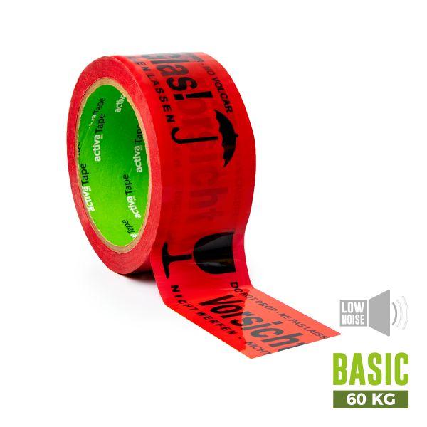 """activaTape Basic LN 48 mm x 66 lfm """"Vorsicht Glas"""""""