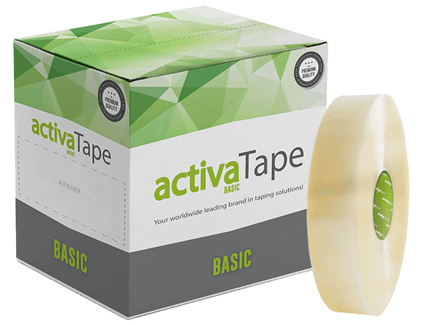 activaTape Basic - Maschinenpackband transparent 48 mm x 990 lfm