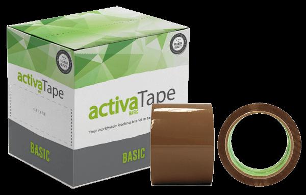 activaTape Basci - Paketklebeband braun 72 mm x 66 lfm