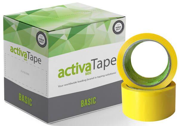 activaTape Basic - Packband Gelb 48mm x 66 Laufmeter