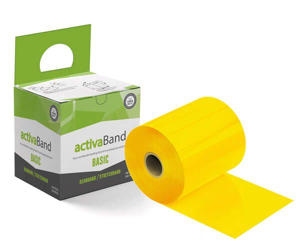 Palettendehnband gelb - activaBand